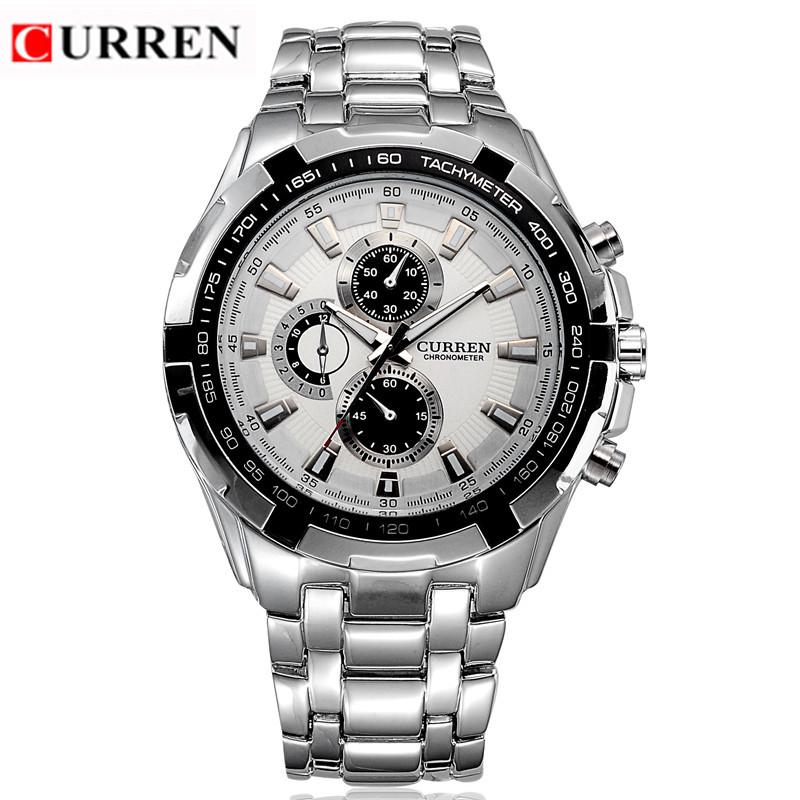 CURREN 8023 Men Watches Top Brand Luxury Stainless Steel Analog Quartz Watch Waterproof Sport Men's Wristwatch Relogio Masculino(China (Mainland))