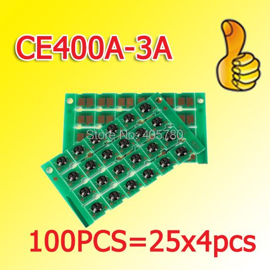 100pcs=25X4pcs CE400A/CE401A/CE402A/CE403A chip compatible for HP Laserjet Enterprise 500 MFP M575 freeshipping+<br><br>Aliexpress