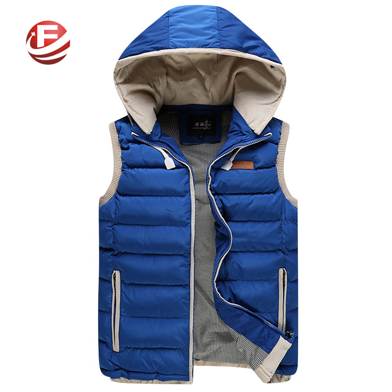 Autumn Winter Fashion Casual Vest Jacket Men Cotton-padded Slim Fit Sleeveless Men's Vest Coats Waistcoat 6 Colors Size M-3XL
