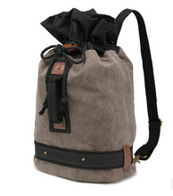 factory wholesale canvas shoulder bag for man bucket package backpack for selling top quality fashion designer bags onsale(China (Mainland))