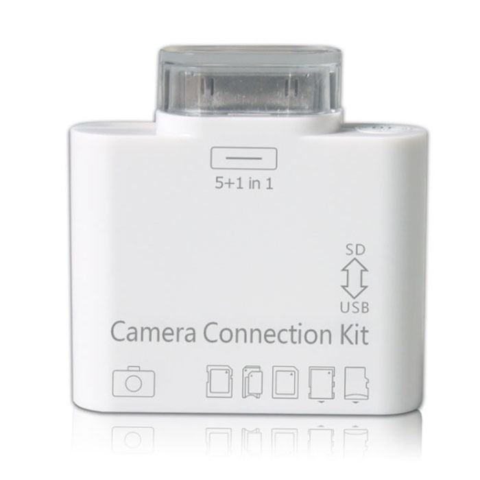 New 2015 5 in 1 Camera Connection Kit Card Reader USB SD Micro T-flash TF MS DUO MMC M2 Photo For Apple Iphone 4 4s iPad 1 2 3()