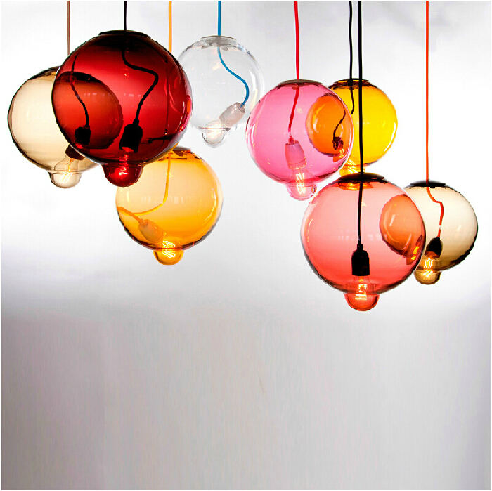 modern creative candy color balloon glass Pendant Light for living room dining room shop Dia 18cm 110-265V 1878<br><br>Aliexpress