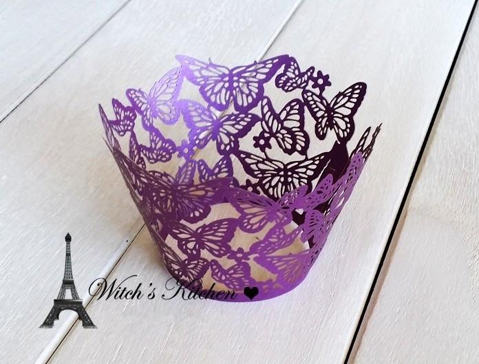 2016 Sale Free Shipping Butterfly Cupcake Decoration For Wedding Party Birthday, New Arrival Color Purple White Black Blue Wrapp(China (Mainland))