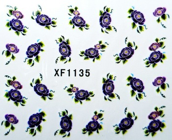New arrival Nail Art Wrap Water Transfer Sticker Decals Peacock Eye Feathers Beauty DIY Free Shipping  XF1135