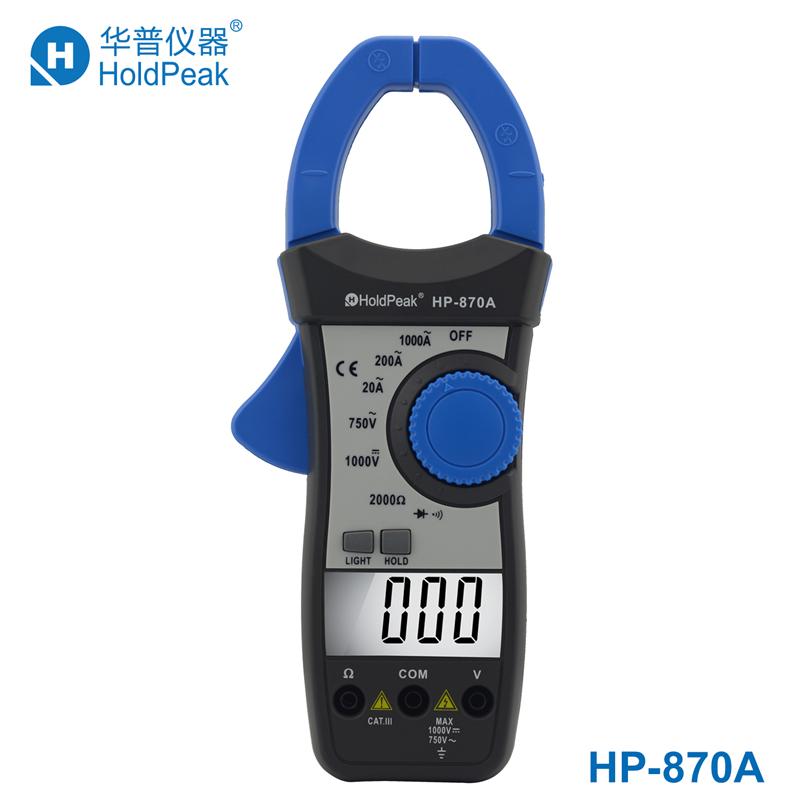 Clamp Multimeters Clamp Meters Digital dual display ac current clamp manual range universal strap backlight off(China (Mainland))