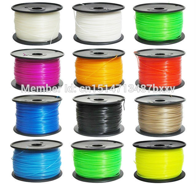 full colors 3d printer PLA HIPS filament 1.75mm  ABS Consumables Material Free shipping<br><br>Aliexpress