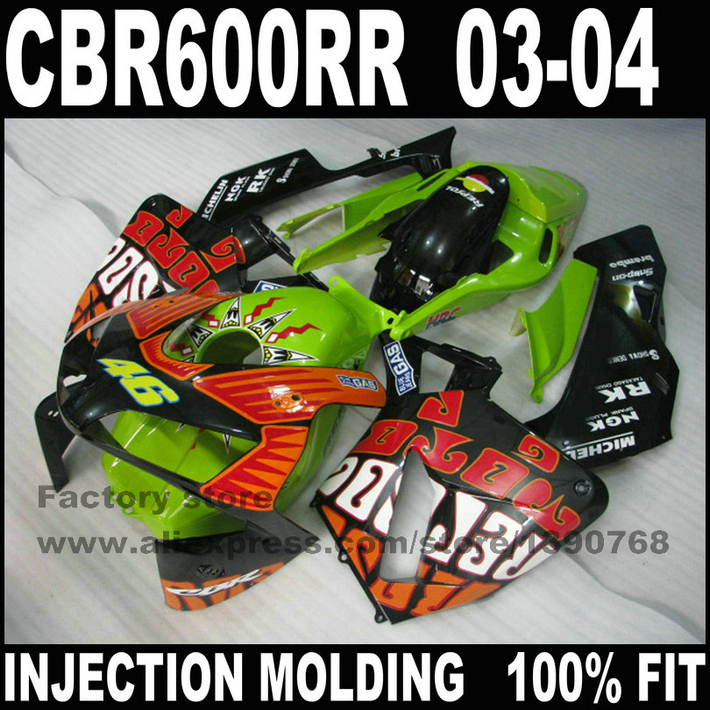 Injection motorcycle part for HONDA CBR 600 RR 2003 2004 CBR600RR fairings 03 04 rossi Limited edition repsol fairing(China (Mainland))