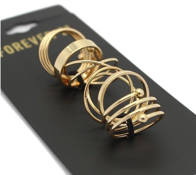 2015 последние мода панк позолоченный стекируемые миди кольцо комплект для женщин ...
