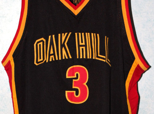 zhimoom BRANDON JENNINGS #3 OAK HILL HIGH SCHOOL JERSEY BLACK Customize any number size and name Retro Throwback embroidery(China (Mainland))