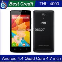 in stock Original THL 4000 MTK6582 Quad core 1.3Ghz 1GB RAM+8GB ROM Android4.4 IPS Screen 4000mAh battery cellphone/Eva