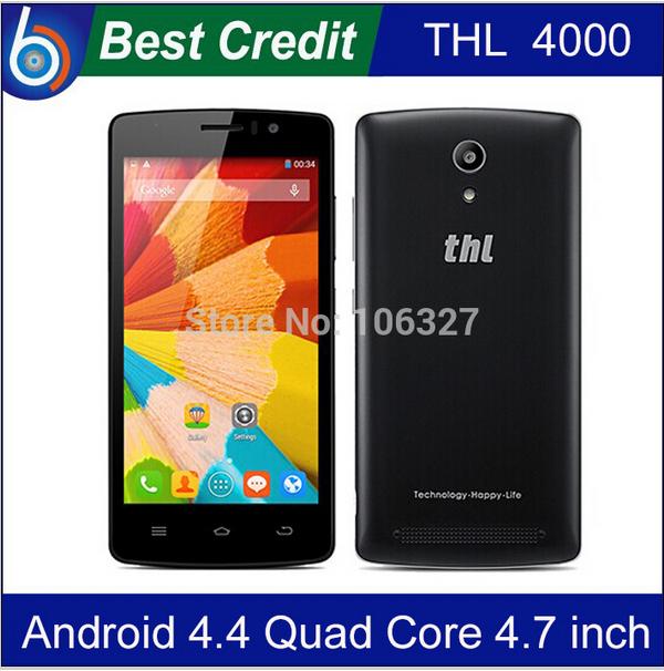 in stock Original THL 4000 MTK6582 Quad core 1.3Ghz 1GB RAM+8GB ROM Android4.4 IPS Screen 4000mAh battery cellphone/Eva(China (Mainland))