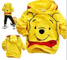 hot sale fashion hello kitty minnie cartoon FULL hooded cotton kids baby girls boys children sweatshirts sweaters(China (Mainland))