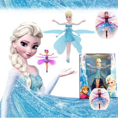 Original Fever Cheap Plastic Boneca Princess Flying Fairy Elsa and Anna Infrared Induction Doll For Girl Brinquedos Electric Toy