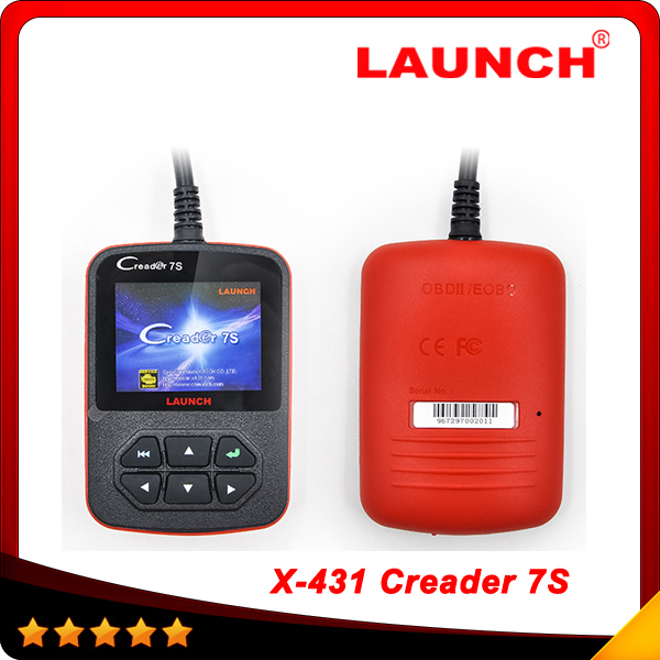 2015 New Released Original Launch X431 Creader 7S Code Reader +Oil Reset Function Creader vii plus Free shipping(China (Mainland))