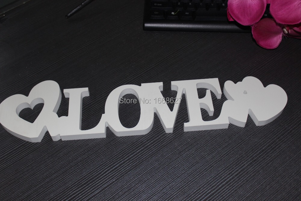 Free shipping! PVC props wedding/party/family decor letters (10*25*1.2cm)(China (Mainland))