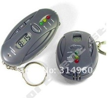 Free Shipping Digital LED ALCOHOL Breath Tester Breathalyser Time New100pcs/lot(China (Mainland))