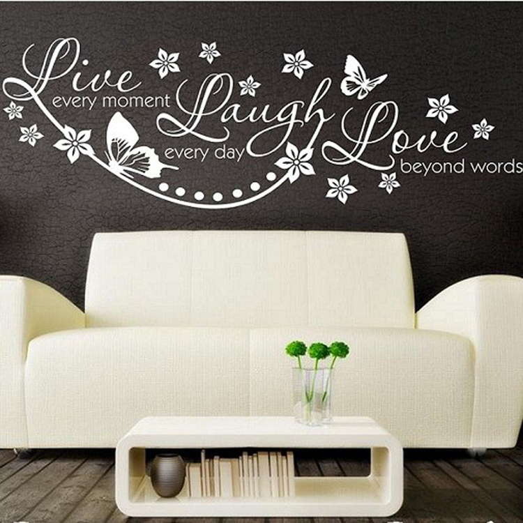 vinyl live laugh love wall art sticker lounge room quote guitar music note symbol violin wall art sticker decal