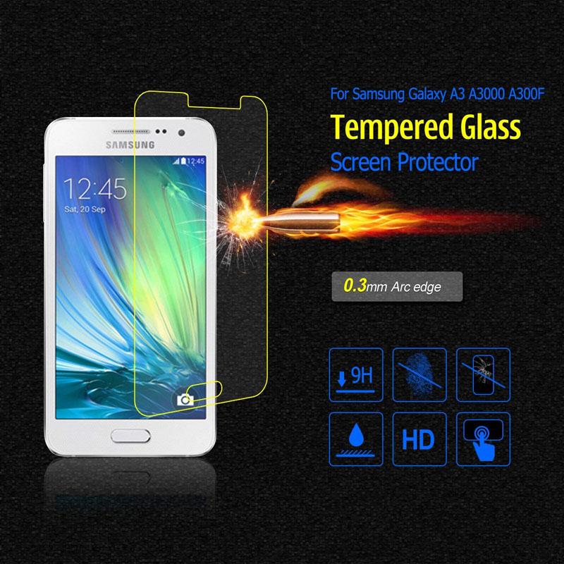 Гаджет  0.33mm  Premium Tempered Glass Screen Protector for Samsung Galaxy A3 A3000 A300F None Телефоны и Телекоммуникации