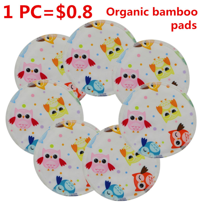 Beilesen Soft Bamboo Washable Reusable Nursing Breast Pads Breastfeeding Absorbent Waterproof Stay Dry Cloth Pad<br><br>Aliexpress