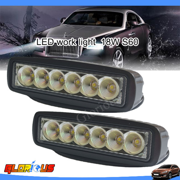 6 Inch 18W LED Work Light Bar for Indicators Motorcycle Driving Offroad Boat Car Tractor Truck 4x4 SUV ATV spot /Flood beam 12V(China (Mainland))