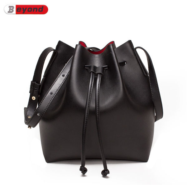 Fashion Drawstring Bucket Bag Women Genuine Leather Handbags Cowhide Hand Bag Shoulder Bag Calf Leather Bucket Women'S Bags(China (Mainland))