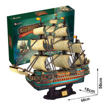 3D Puzzle DIY Model San Felipe Spanish Armada Warship Ship Boat Ancient Galleon(China (Mainland))