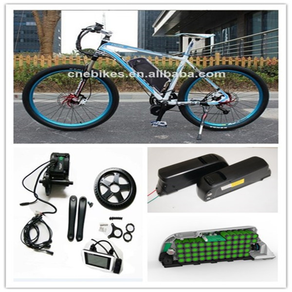 Mid crank drive motor ebike kit electric bicycle 8fun for Mid motor electric bike