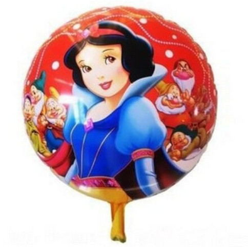 18 Inch round Snow white and the Seven Dwarfs foil Balloons Princess <br><br>Aliexpress