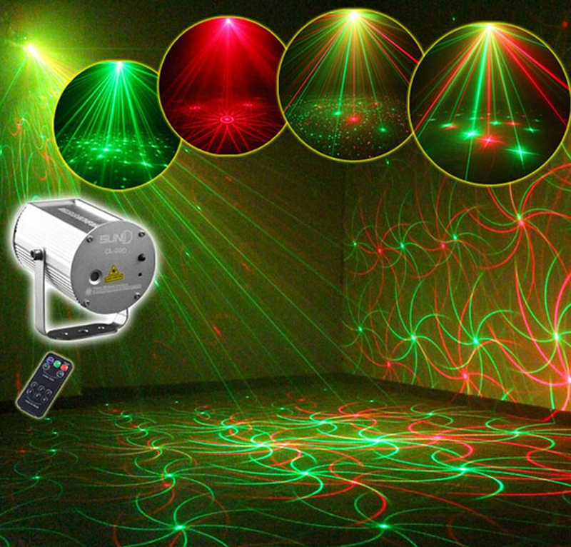 Christmas IR Remote 9 Patterns RG Laser Light Professional stage Lighting Red Green Projector Stage Party DJ Light Equipment<br><br>Aliexpress