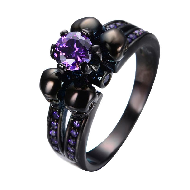 Aliexpress.com : Buy Purple Amethyst Skull Jewelry Women ...