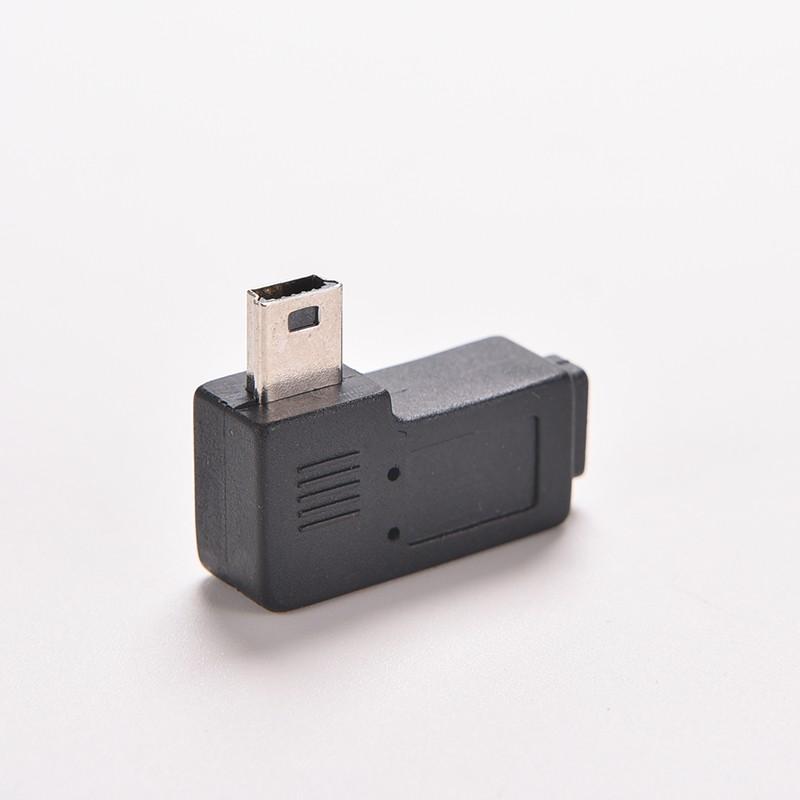 1PC 4 Type Straight / L Shape Black Micro / Mini USB Female to Mini / Micro USB Male Adapter Charger Connector Converter Adaptor