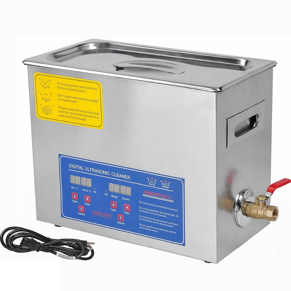 2016 Stainless Steel PS-30A 110V / 220V 6L Industry Heated Ultrasonic Cleaner Heater Timer Cleaner Cleaning Equipment Machine(China (Mainland))