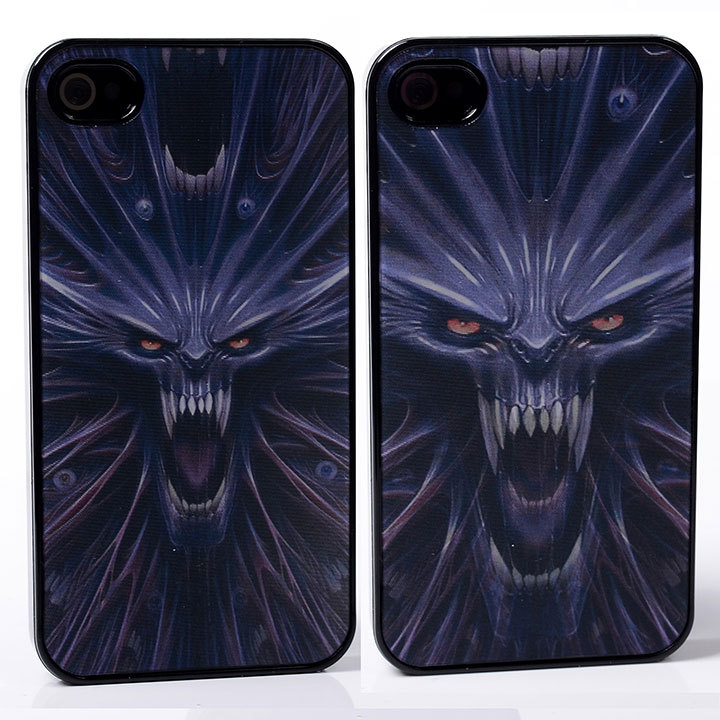 DYNAMIC Movie Video Film Effect mouth fang teeth rage roar wolf monster terror PC Hard Back Shell Cover Case For iphone 4 4S 4G(China (Mainland))