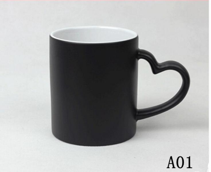 Personality Logo Gift Custom Creativity DIY Magic Cup Ceramic Cups Discoloration Mug Personalized Photo Printed Cups(China (Mainland))