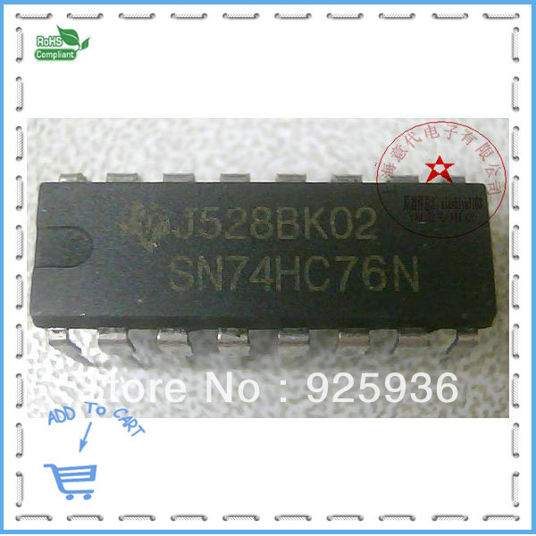 SN74HC76N DIP-16 the rooms physical store spot(China (Mainland))