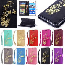 Sony Z3 Z4 Z5 Mini M2 M4 M5 C5 Xperia X XA E5 Phone Luxury Painted Flip PU Leather Wallet Card Stand Case Cover Pouch - China's store