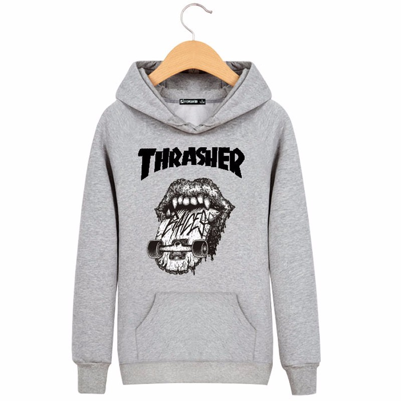 Thrasher Brand Hoodie Men Sweatshirt Mens O-neck Trasher Hip Hop Hoodies and Sweatshirts Trasher Felpe Sudaderas Hombre hoodies