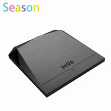 Latest Android 5.1 M96 Amlogic S905 tv box 2GB 16GB Quad-core Marshmallow satellite receivers kodi mart Media Player