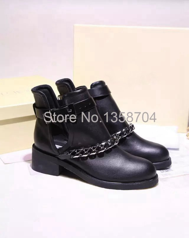 genuine leather women boots fashion brand Motorcycle boots Ankle shoes Designer Flat with Sheepskin boots Soft Leather shoes
