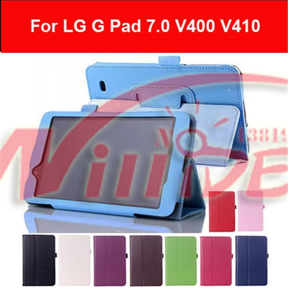 Magnet Smart Stand pu leather case cover stand For LG G Pad 7.0 V400 V410 Tablet pc covers cases for gpad 7.0 v410 free shipping(China (Mainland))