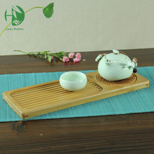 Six styles bamboo tea tray handmade wooden plate mat Chinese set afternoon Kung fu cup storage vintage crafts - Natural Bamboo store