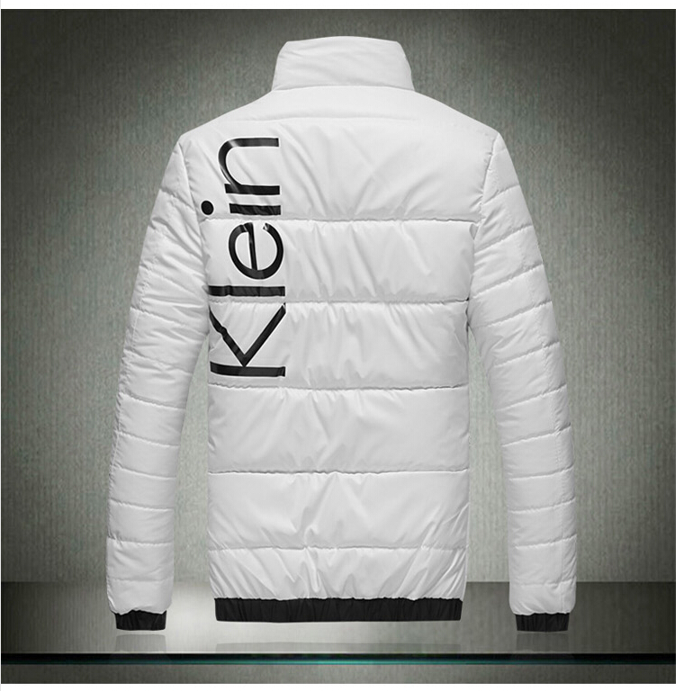 2015Autumn winter men warm cotton padded clothes men slim fitting white Winter jacket coat men plus