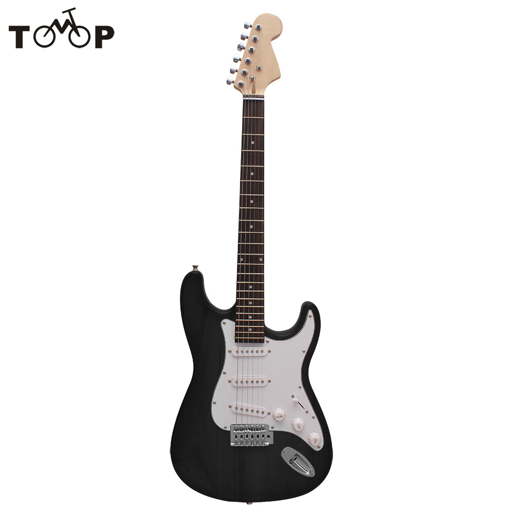 Single Tremolo Electric Guitar Guitarra High Quality Solid Basswood Body Rosewood Fingerboard Steel String with Bag Picks Strap(China (Mainland))