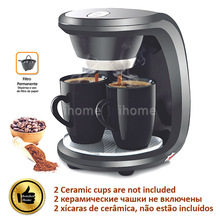 High Quality 2 Cups Black Color Coffee Machine(Without Ceramic Cup),American or Nescafe Drip Coffee Maker Machine, Free Shipping(China (Mainland))
