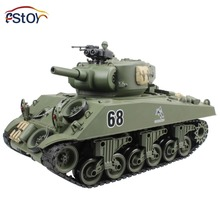 RC Tank USA Sherman M4A3 Main 15 Channel 1/16 RC Battle Tank Model With Shoot Bullet