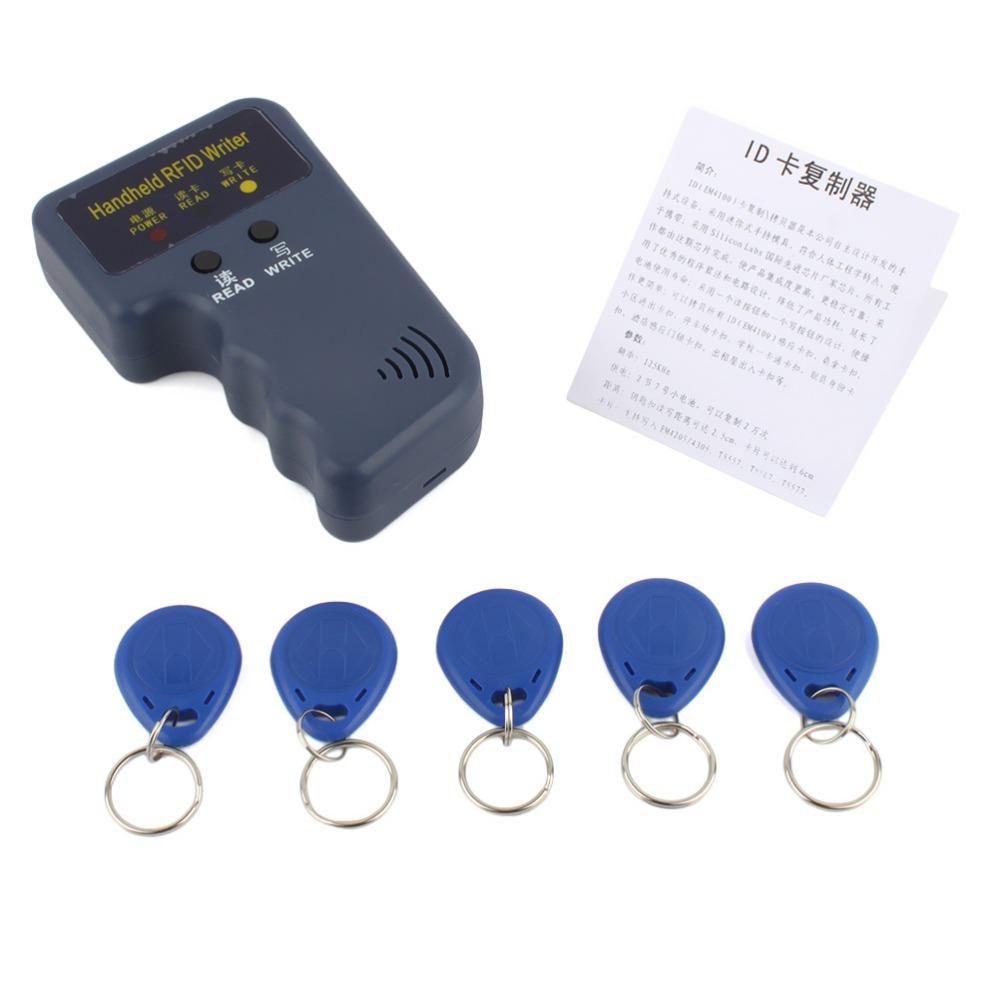 Handheld 125Khz RFID Card Reader Copier Writer Duplicator Programmer ID Card Copy + 5pcs EM4305 each Writable tags(China (Mainland))