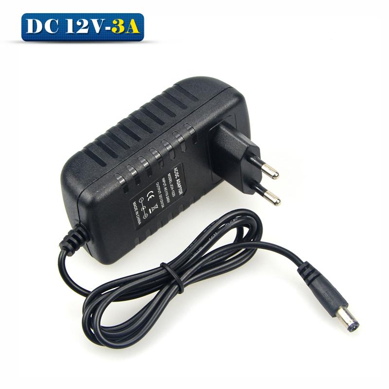 AC100V- 240V To DC 12V 3A Lighting Transformer Switch Power Supply Charger Power Adapter For RGB LED Strip 5050 3528 EU US Plug(China (Mainland))
