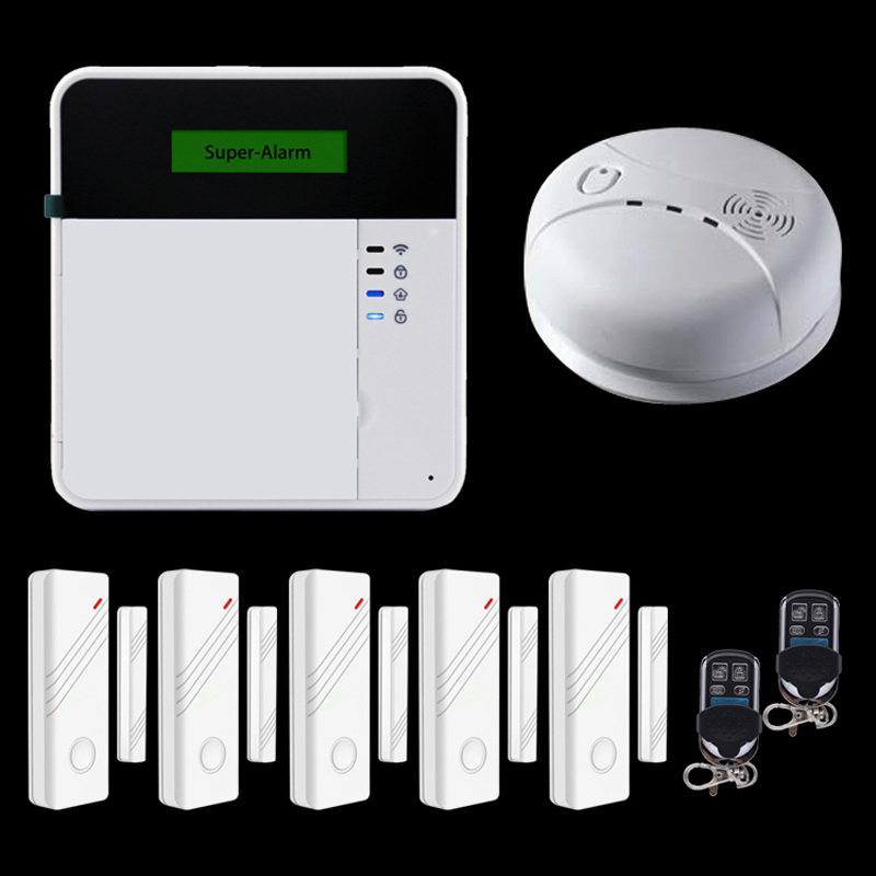 wireless 433mhz gsm sms home burglar security alarm system detector sensor kit remote control. Black Bedroom Furniture Sets. Home Design Ideas