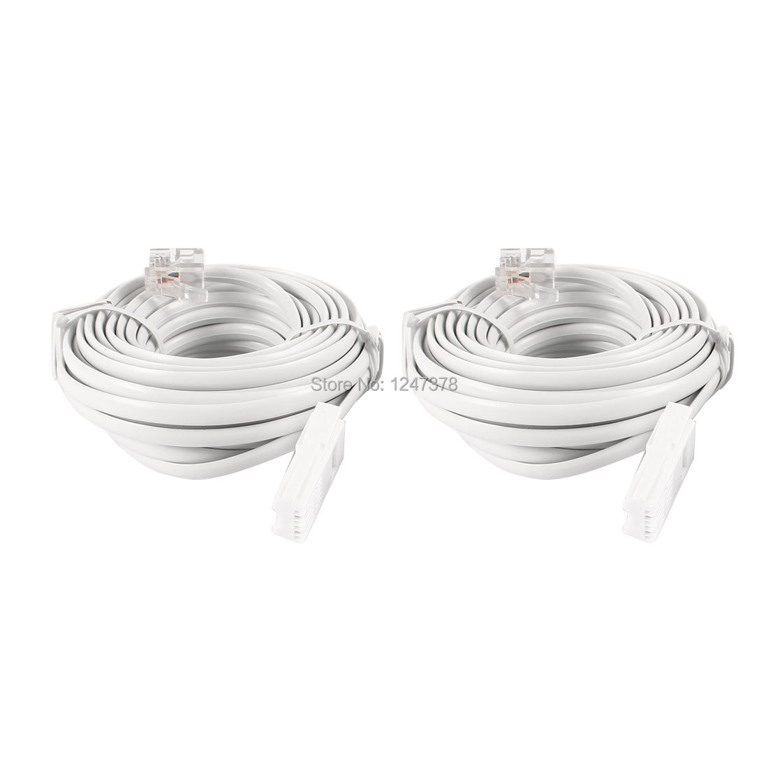 2 Pcs/lot 20ft RJ11 to UK BT 6P2C Telephone Phone Extension Cable Connector(China (Mainland))