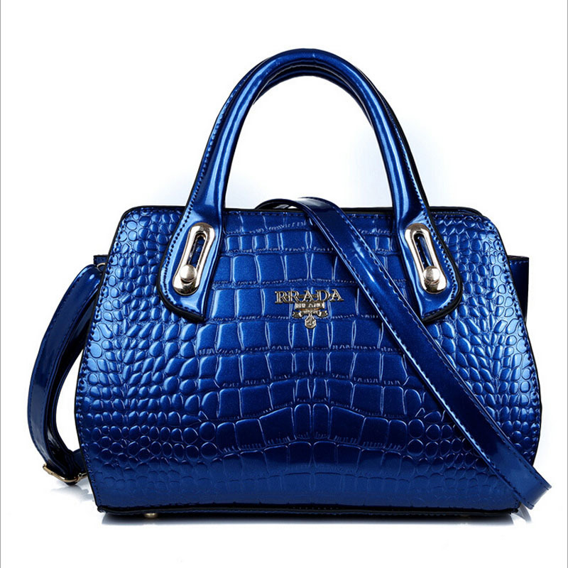 Ladies handbag Women's new fashion Satchel Handbag patent leather Alligator Embossing tote shoulder bag(China (Mainland))